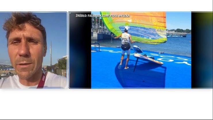 Tokio 2020. Windsurfer Piotr Myszka zdyskwalifikowany za falstart. Trener: nie wytrzymał ciśnienia