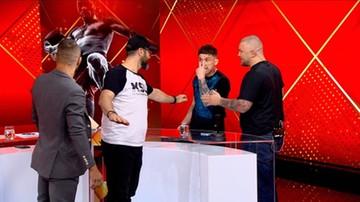 Awantura w studiu Polsatu Sport. Prowadzący musieli rozdzielać gości