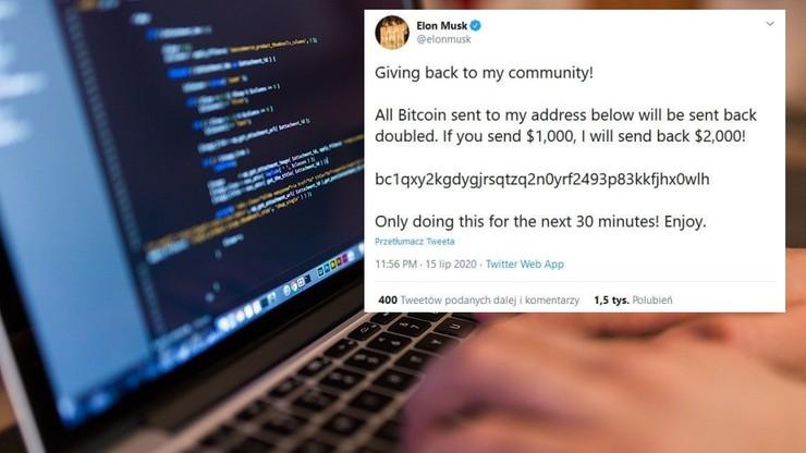 Atak hakerów na Twittera. Tysiące wpisów z kont Muska, Gatesa i Obamy
