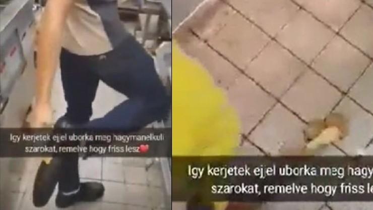 Węgry. Wycierali ser o podeszwę buta. McDonald's zwolnił pracowników