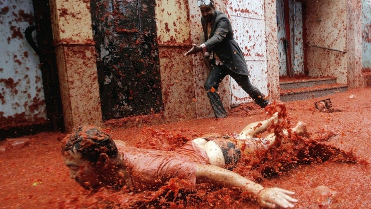 Wielka bitwa na pomidory w Hiszpanii. Zużyto ich 160 ton