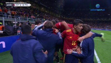 Liga Narodów: Hiszpania - Francja 1:0. Gol Mikela Oyarzabala