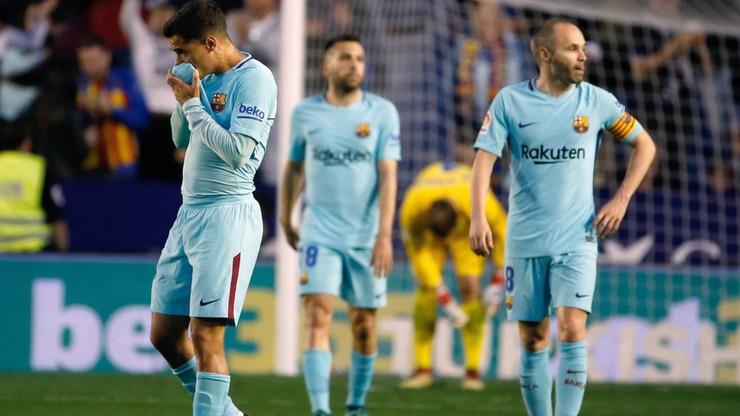 FC Barcelona nie skończy sezonu niepokonana! Przegrała z Levante 4:5