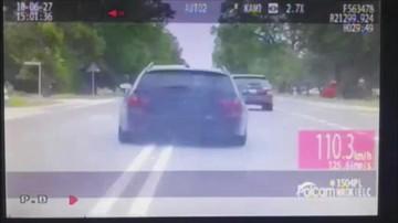 Pościg za kierowcą bmw po narkotykach. Pędził przez miasto ponad 160 km/h [NAGRANIE]