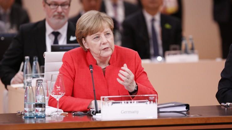 Merkel: trudna dyskusja G20 o handlu i klimacie