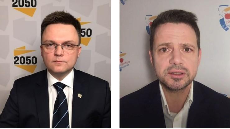 Sondaż: Trzaskowski lub Hołownia na prezydenta