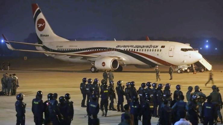 Próba porwania samolotu w Bangladeszu. Sprawca zastrzelony