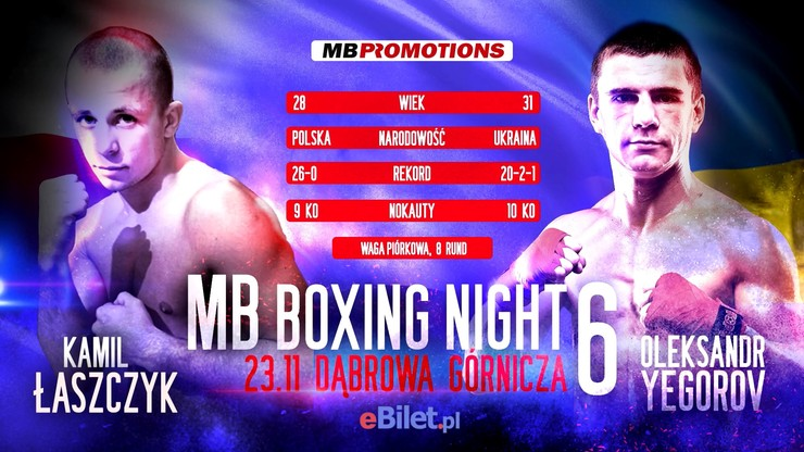 MB Boxing Night 6: Łaszczyk wraca do poważnej gry