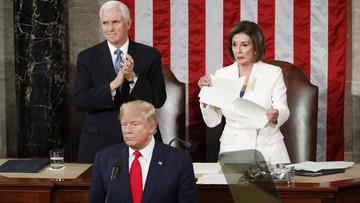 Trump w orędziu o gospodarce i kosmosie. Pelosi podarła tekst jego przemowy