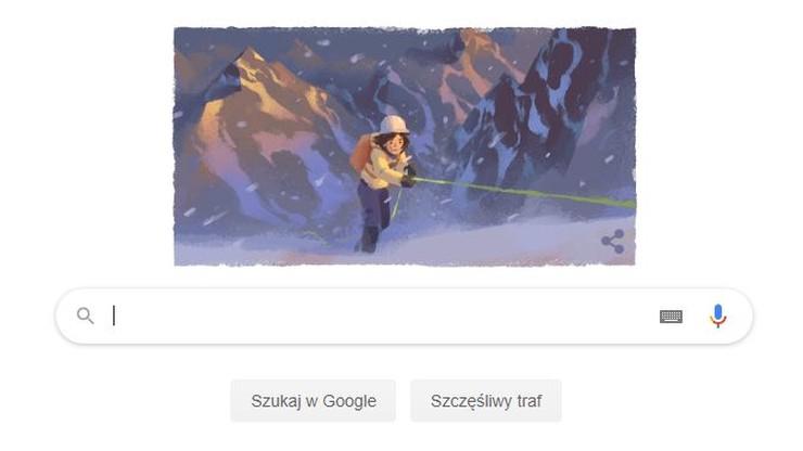 Wanda Rutkiewicz bohaterką doodle w wyszukiwarce Google. 41 lat temu weszła na Mount Everest