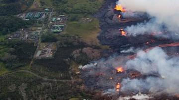 Erupcje wulkanu na Hawajach. Lawa dotarła do elektrowni geotermalnej