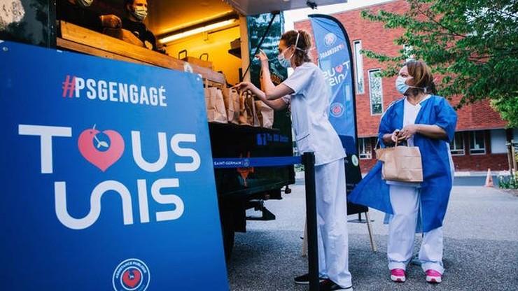 PSG funduje 25 000 obiadów dla służb medycznych paryskich szpitali