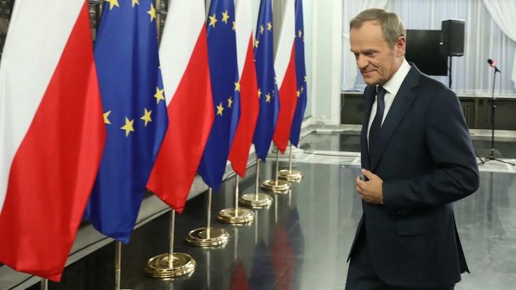 """""""Jesteś taki kozak, to spróbuj"""". Tusk o przepraszaniu Kaczyńskiego"""