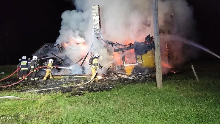 Drzewce Kolonia: pożar domu. W zgliszczach znaleziono zwłoki