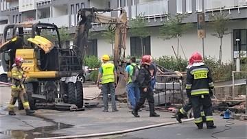 Pożar gazociągu we Wrocławiu