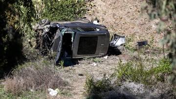 Kompletnie zniszczony samochód Woodsa (ZDJĘCIA)
