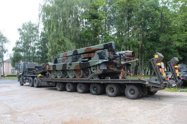 Wyjazd wojsk z Braniewa na zgrupowanie defiladowe w Sochaczewie