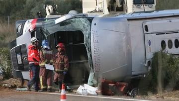 Hiszpania: wypadek autokaru ze studentami. 14 osób nie żyje