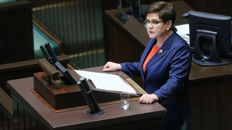"""""""Nie mogliśmy poprzeć człowieka, który chciał obalić nasz rząd"""". Premier Szydło o Tusku"""