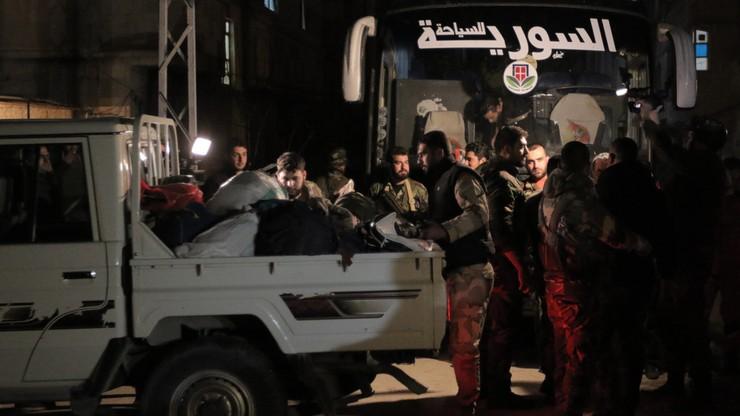 Rebelianci blokują ewakuację Wschodniej Guty. 76 osób opuściło enklawę, 5 zginęło w trakcie ostrzału