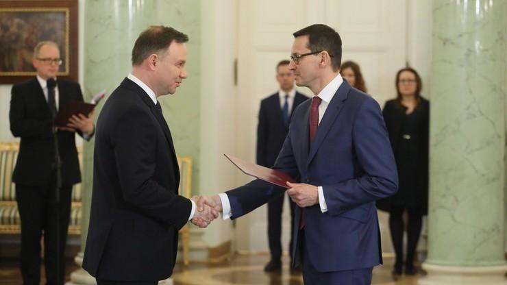 PAP nieoficjalnie: w poniedziałek po południu prezydent Duda powoła rząd Mateusza Morawieckiego