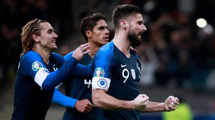 Francja rozbiła osłabioną Ukrainę. Olivier Giroud drugi na liście wszech czasów
