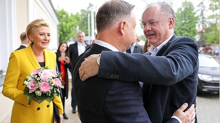 Prezydent Duda odznaczył Orderem Orła Białego prezydenta Słowacji