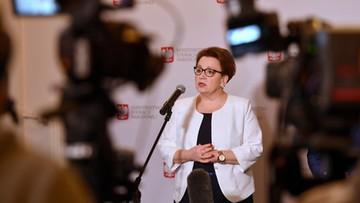 """Minister Zalewska zaskoczona deklaracją o strajku nauczycieli. """"Rozmawiamy dalej"""""""