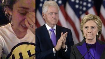 Płacz i zgrzytanie zębów. Amerykańska gwiazda zalewa się łzami po przegranej Clinton