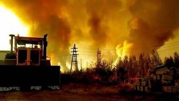 Kilkaset pożarów szaleje w najzimniejszej części Rosji