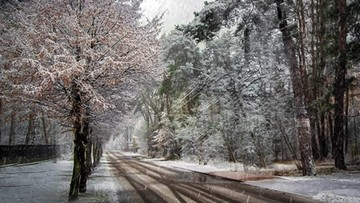 Opady deszczu i śniegu. Duża różnica temperatur
