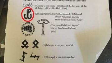 """Znak Polski Walczącej wśród nazistowskich symboli. """"Został błędnie zidentyfikowany"""""""