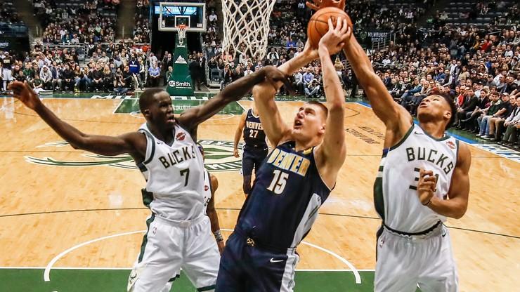 """NBA: Najszybsze triple-double Jokica, 24 """"trójki"""" Denver"""