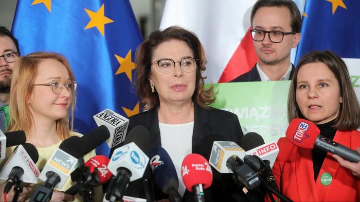 """Zieloni poparli kandydaturę Kidawy-Błońskiej. """"Ma cechy głowy państwa"""""""