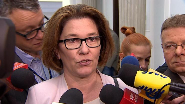 PO składa wniosek do komisji etyki ws. wypowiedzi Mazurek o zajściach w Radomiu
