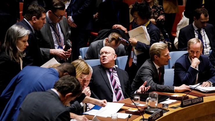 Rosja zawetowała rezolucję USA ws. zbadania ataku chemicznego w Syrii