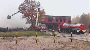 Pożar hali magazynowej na Mazowszu. Z ogniem walczyło 12 zastępów straży pożarnej