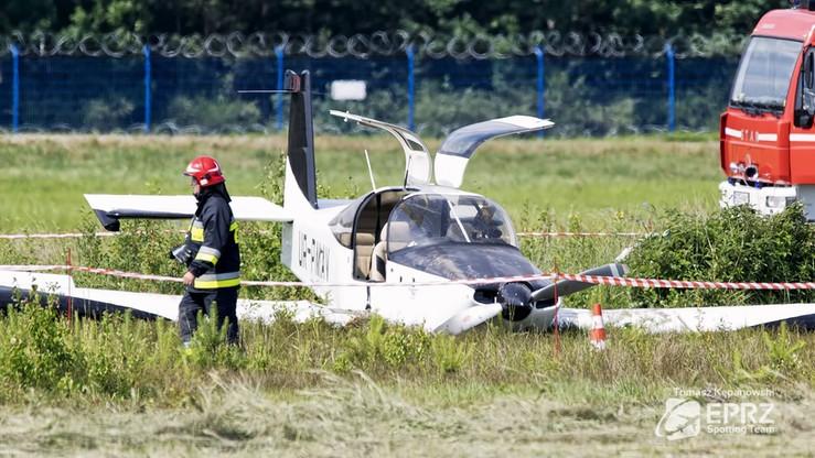 Wypadek awionetki na lotnisku w Jasionce. Trzy osoby ranne