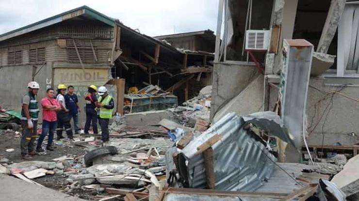 Silne trzęsienie ziemi na Filipinach. Zniszczone budynki, kilkanaście osób rannych