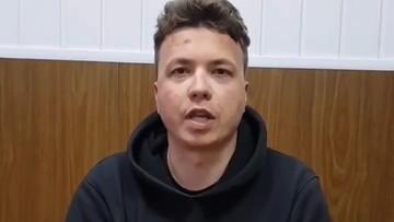 Pratasiewicz pokazany w prorządowej białoruskiej telewizji. Powiedział, jak go traktują i gdzie jest