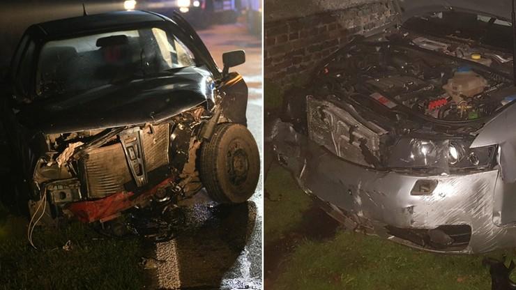 Pijany kierowca audi zderzył się z... pijanym kierowcą audi