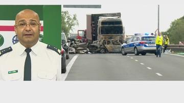 """""""Ta ciężarówka nie powinna w ogóle poruszać się po drodze"""". Gajadhur o wypadku na A6"""