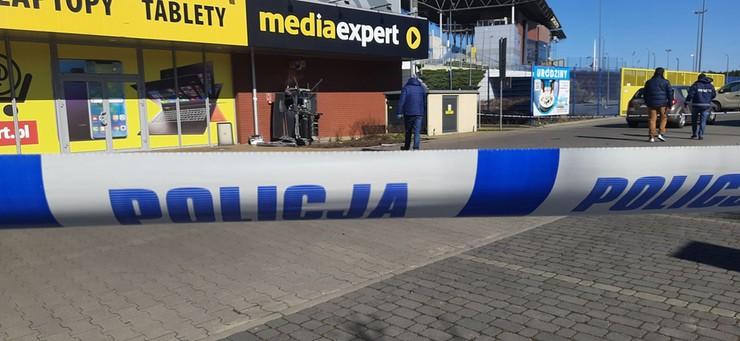 Zniszczony bankomat w Bydgoszczy