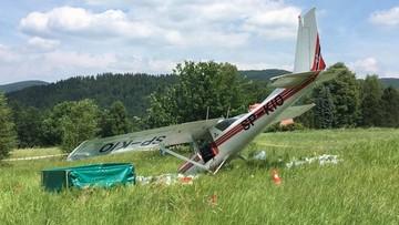 Awaryjne lądowanie awionetki w Małopolsce