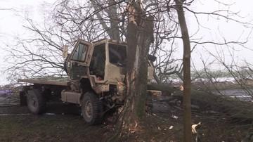 Wypadek ciężarówki wojsk USA w Wielkopolsce. Są ranni