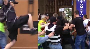 Bójka podczas manifestacji narodowców i sympatyków KOD-u w Radomiu
