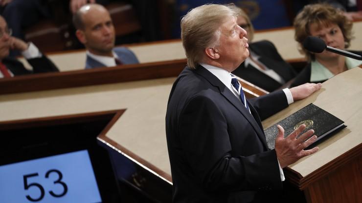 Trump przedstawił swój program Kongresowi. Potwierdził zaangażowanie na rzecz NATO