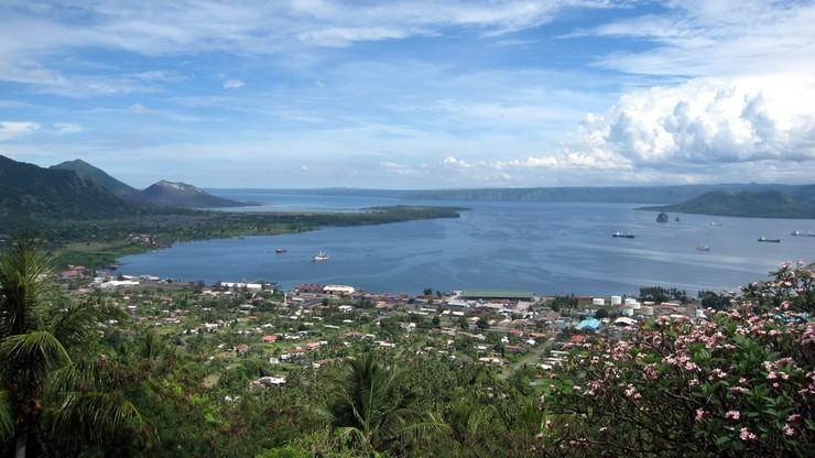 Silne trzęsienie ziemi w pobliżu miasta Rabaul w Papui Nowej Gwinei