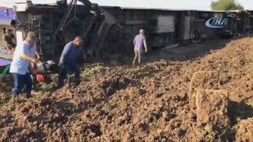 Katastrofa kolejowa w Turcji. Są ofiary śmiertelne