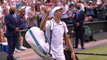 Wimbledon: Kibice docenili Huberta Hurkacza. Piękne pożegnanie! (WIDEO)